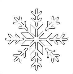 printable snowflake templates large small stencil