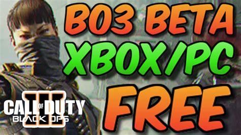 bo beta code  xbox   pc giveaway