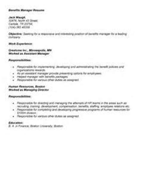 benefits coordinator resume objective entry level project coordinator resume sle resume