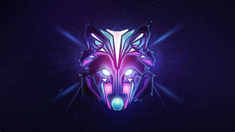 2048x1152 Wolf Colorful Minimalism 2048x1152 Resolution Hd
