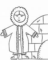 Eskimo Coloring Pages Printable Winter Worksheet Topcoloringpages sketch template