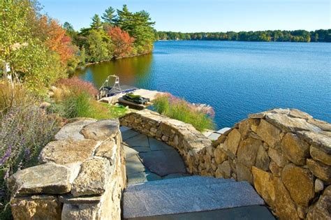 webster ma lake house traditional landscape other