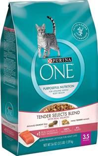 purina cat food purina one salmon tuna flavor cat food 16 lb bag