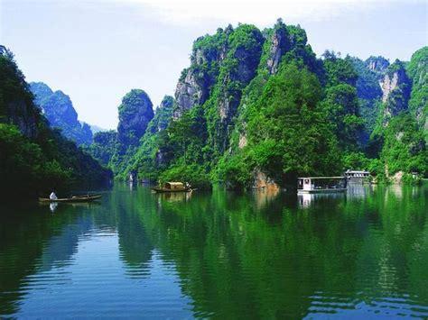 turquoise area 宝峰湖图片 张家界旅游在线