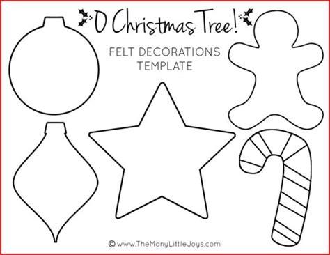 Felt Christmas Tree For Kids (with Printable Templates