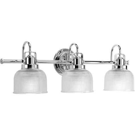 chrome bathroom vanity light shop progress lighting 3 light archie chrome bathroom