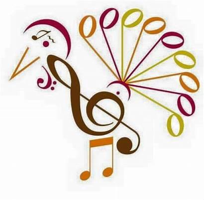 Thanksgiving Happy Symbols Turkey Musical Piano Notes