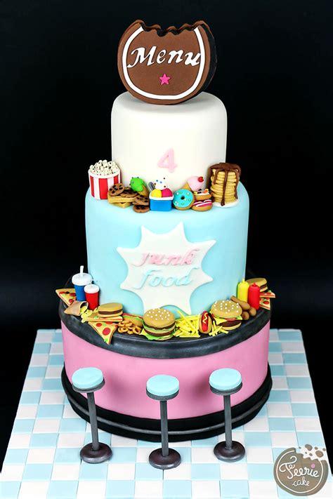 cuisine musculation gâteau anniversaire 4 ans quot junk food quot féerie cake