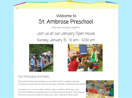 st ambrose preschool check out the new website for our preschool st ambrose 698
