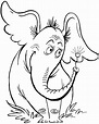 Today I will show you how to draw Horton, the elephant ...