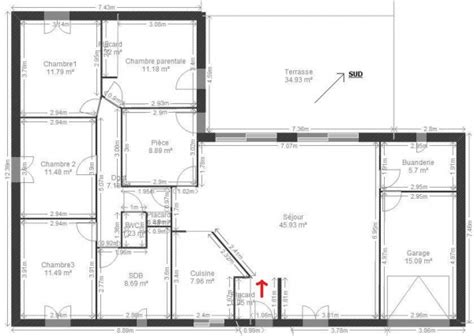plan maison plain pied 4 chambres garage plan maison 4 chambres et garage