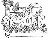 Coloring Garden Pages Colouring Cartoon Gardening Night Gardens Flowers Clip Field Fairy Sheets sketch template