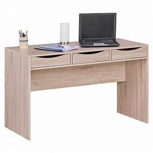 Schreibtisch 120 Cm : finebuy schreibtisch 120 cm design b rotisch sonoma eiche modern jugendschreibtisch 3 schubladen ~ Orissabook.com Haus und Dekorationen