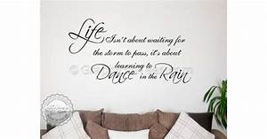 Dance in the rain inspirational family wall sticker quote