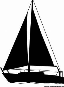 Sailboat clipart silhouette craft projects transportations ...