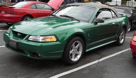 electric green  ford mustang svt cobra convertible