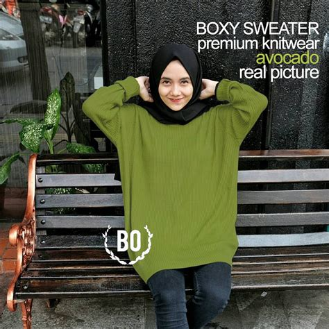 sweater boxy premium hijau avocado baju murah meriah newhairstylesformen2014