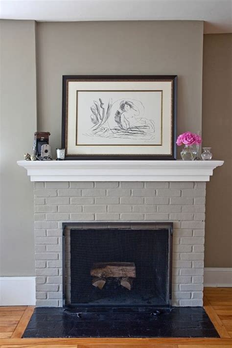 Paint Colors Living Room Brick Fireplace by 1000 Ideas About Grey Fireplace On Fireplaces