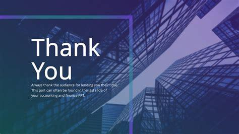 Financial Thank You PowerPoint Slide SlideStore