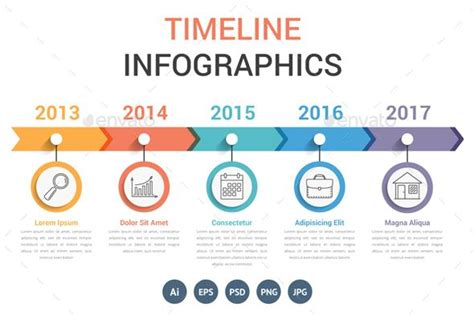 timeline infographics template psd vector eps ai