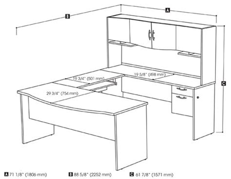realspace broadstreet contoured u shaped desk dimensions woodwork u shaped desk plans pdf plans