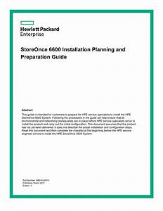 Storeonce 6600 Installation Planning And Preparation Guide
