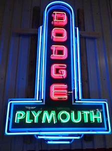 Dodge Plymouth Neon Sign
