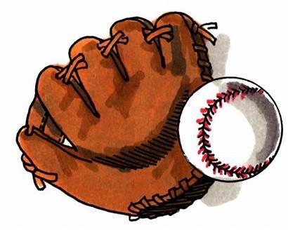 Baseball Glove Cartoon Clipart Mitt Ball Softball