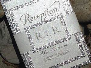 1081 best black and white theme images on pinterest cake for Inexpensive glitter wedding invitations