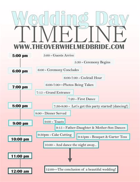 ideas  wedding day itinerary  pinterest