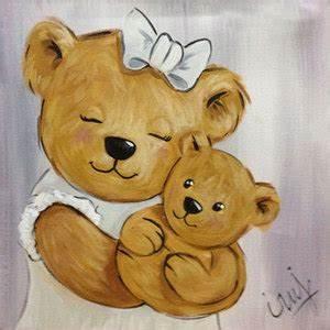 Chambre Bébé Ourson : peinture ourson fille rose vente tableau ourson pour chambre enfants decore ta chambre ~ Teatrodelosmanantiales.com Idées de Décoration