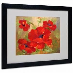 U0026quot, Poppies, U0026quot, Framed, Matted, Art