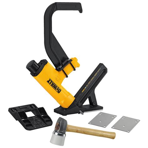 pneumatic flooring nailer vs manual dewalt 16 l cleat flooring nailer dwmiiifn the