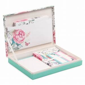 vintage floral box writing set new stationery new With letter writing paper sets