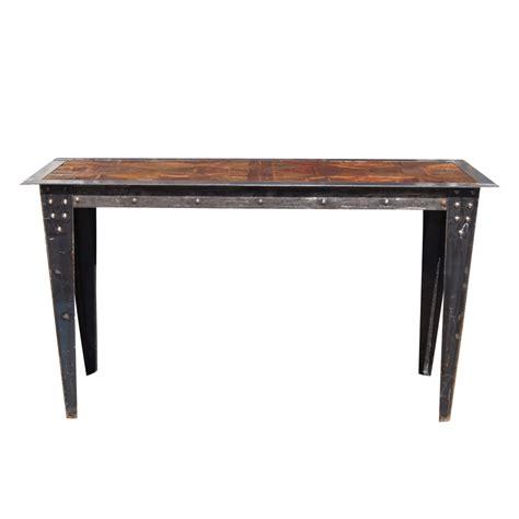 industrial metal console table vintage heavy industrial steel wood console table ebay