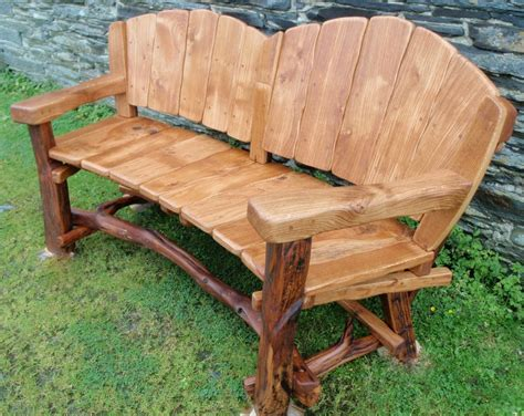 Garten Sitzbank Holz by Rustic Wood Bench With Back Rustic Garden Benches