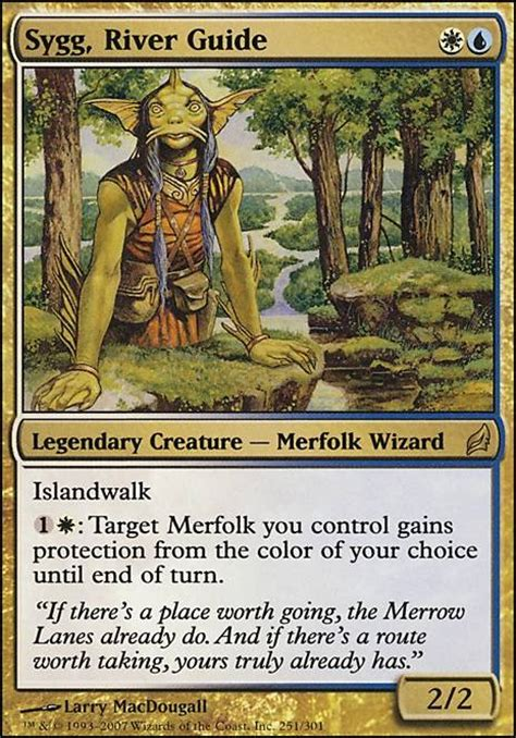 Mtg Merfolk Deck Tapped Out by Sygg River Guide Mtg Card