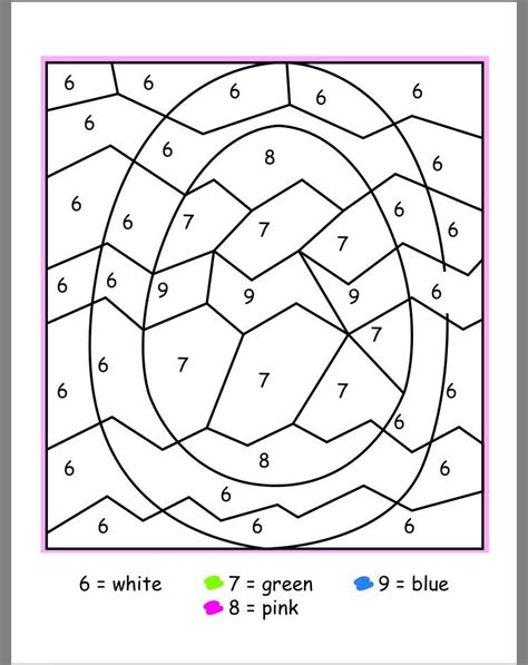 color numbers easter color by numbers best coloring pages for