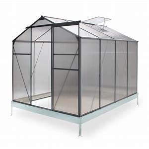 Gewächshaus 12 Qm : alu gew chshaus treibhaus basic 4 75 qm mit 1 dachfenster und schiebet re ~ Whattoseeinmadrid.com Haus und Dekorationen