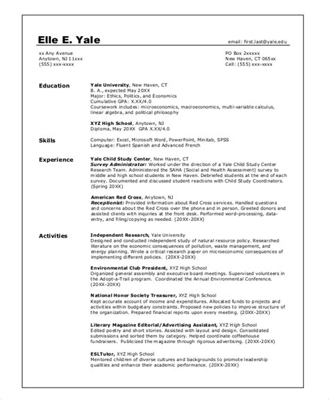 College Grad Resume by 8 Sle College Resumes Pdf Doc