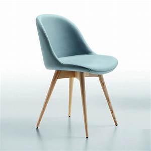 Chaise Scandinave Rouge : chaise scandinave simili cuir bleu azur midj sur cdc design ~ Teatrodelosmanantiales.com Idées de Décoration