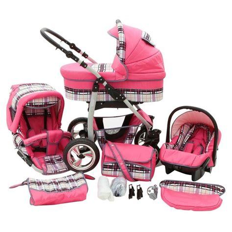 siege auto bebe groupe 0 1 poussette trio color vichy fushia poussette bébé 3 en 1