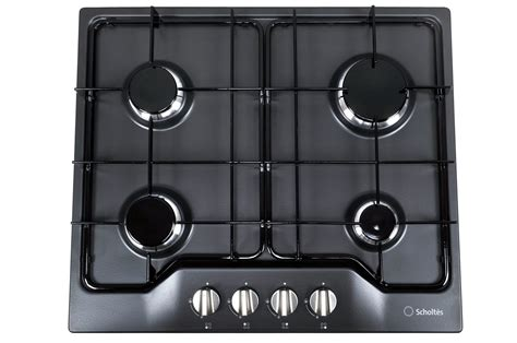 plaque de cuisine gaz plaque gaz scholtes tg 640 an anthracite 3159930 darty