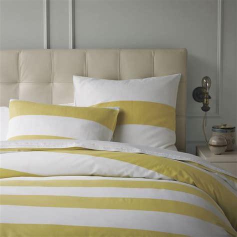 striped duvet covers stripe duvet cover white citron west elm