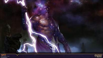 Magic God Storms Keranos Gathering Wallpapers Fantasy
