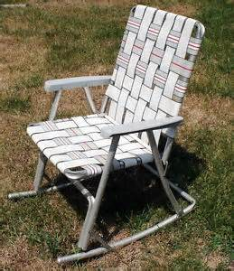 vtg folding aluminum lawn webbed rocking chair rocker outdoor 70 039 s retro ebay