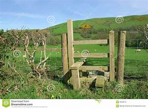 Rural Wooden Stile stock photo. Image of direction, right ...