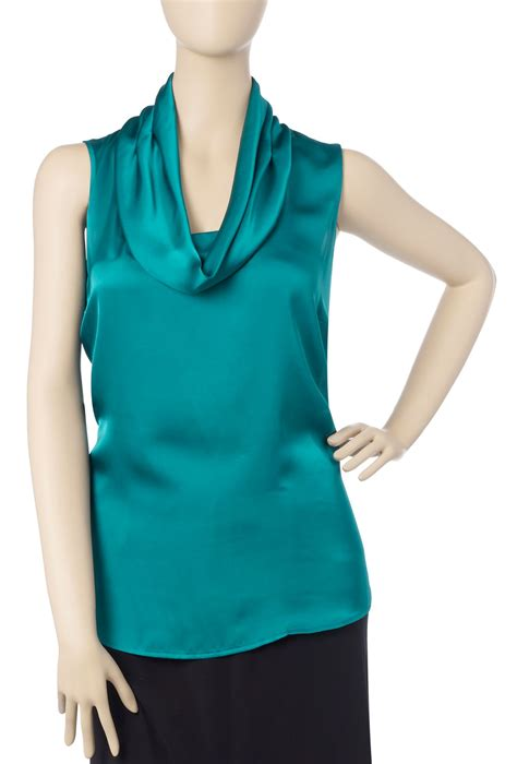 teal blouses harvey cowl neck blouse teal review compare prices
