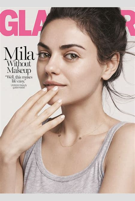 Mila Kunis Goes Without Makeup for 'Glamour': 'I Don't Wear Makeup' - Us Weekly