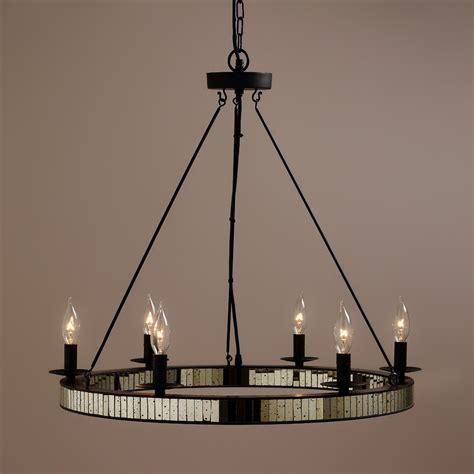mercury glass chandeliers mercury glass chandelier world market